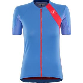 Castelli Scheggia 2 Maillot de cyclisme Femme, riviera blue/hibiscus